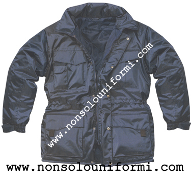 Giaccone/Parka impermeabile PVC colore blu navy