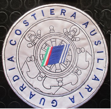 Patch retroschiena rotonda 210mm Guardia Costiera Ausiliaria